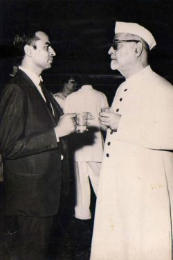 Mr. Talwar with Dr. Zakir Hussain - Ex President of India
