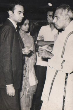 Mr. Talwar with Mr. Krishna Menon- Ex - Defence Minister of India