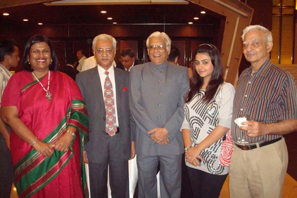 Mr. Talwar and Sakshi at a reception post Carpet seminar in Colombo, Sri Lanka
