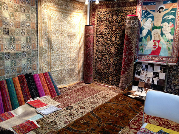YAK exhibiting its handmade silk carpet collection at ICE, New Delhi