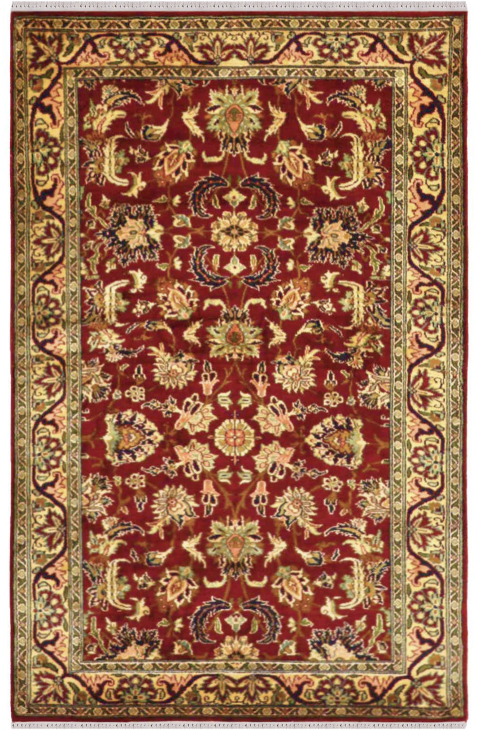 Applique Kashan Silk Carpet