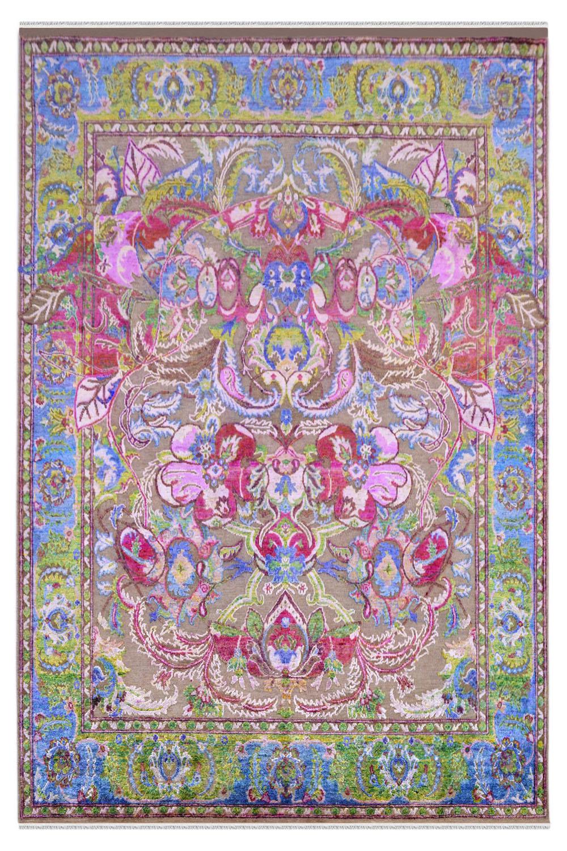 Dragon heart sari silk handmade custom size area rugs at for Custom made area rugs