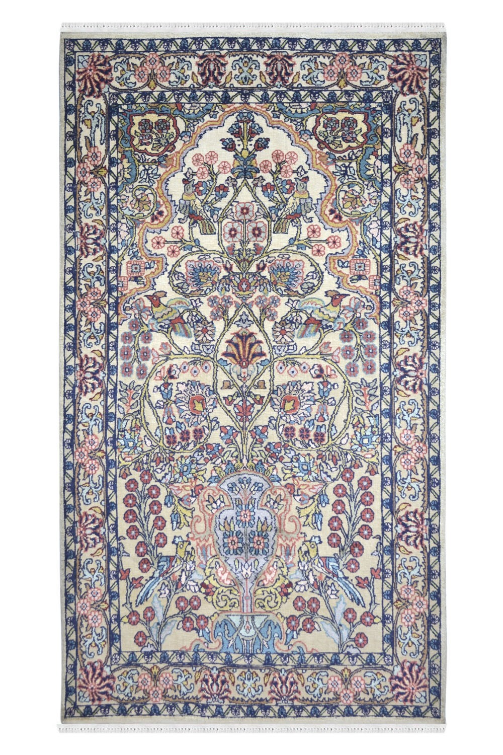 Chinese Tree of Life Silk Rug