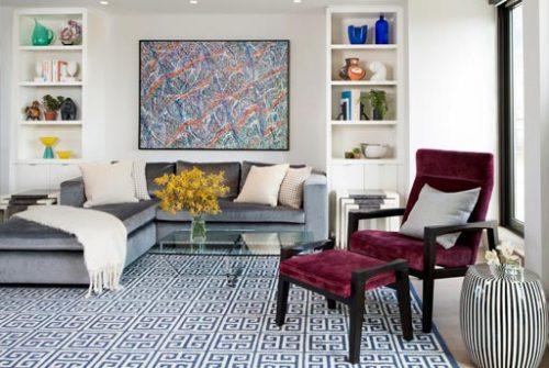 Beautiful geometrical carpet