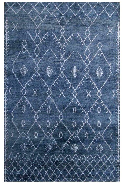 Blue-Denim Moroccan rug